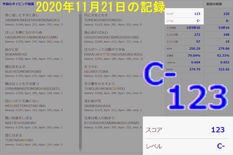 2020年11月21日エタイ記録C-